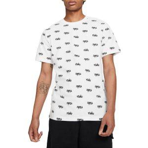 חולצת T נייק לגברים Nike All Over Print - לבן