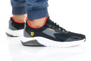 נעלי סניקרס פומה לגברים PUMA FERRARI ELECTRON E PRO - שחור
