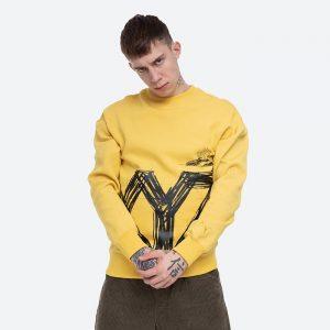 חולצת פומה לגברים PUMA x Michael Lau Reverse graphic Crew Super - צהוב