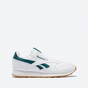 נעלי סניקרס ריבוק לגברים Reebok Classic Leather Vegan - לבן/ירוק