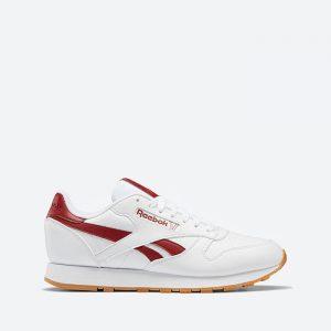 נעלי סניקרס ריבוק לגברים Reebok Classic Leather Vegan - לבן