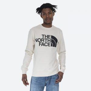 סווטשירט דה נורת פיס לגברים The North Face Standard Crew - לבן