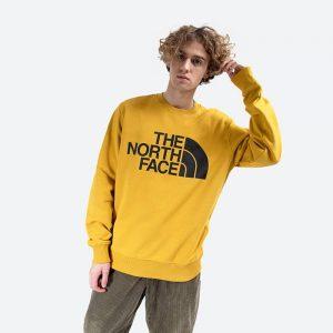 סווטשירט דה נורת פיס לגברים The North Face Standard Crew - צהוב