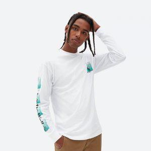 חולצת ואנס לגברים Vans Fly Net - לבן