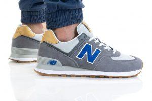 נעלי סניקרס ניו באלאנס לגברים New Balance ML574 - אפור כהה