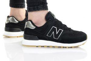 נעלי סניקרס ניו באלאנס לנשים New Balance WL574 - שחור