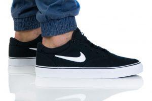 נעלי סניקרס נייק לגברים Nike SB CHRON 2 CNVS - שחור/לבן