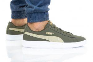 נעלי סניקרס פומה לגברים PUMA SMASH V2 BUCK - ירוק כהה