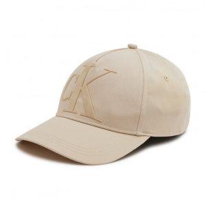 כובע קלווין קליין לגברים Calvin Klein Dboss - בז'