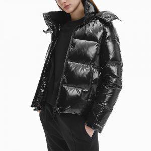 ג'קט ומעיל קלווין קליין לגברים Calvin Klein Glossy Down Puffer - שחור