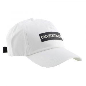 כובע קלווין קליין לגברים Calvin Klein Institutional - לבן