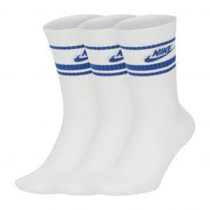 גרב נייק לגברים Nike CREW NSW ESSENTIAL STRIPE - לבן/ כחול