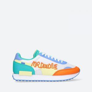 נעלי סניקרס פומה לגברים PUMA x Mr Doodle Future Rider - צבעוני/לבן