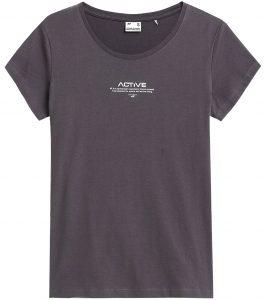 חולצת T פור אף לנשים 4F H4Z21 TSD020 - אפור כהה
