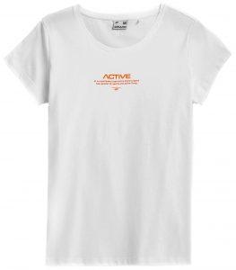 חולצת T פור אף לנשים 4F H4Z21 TSD020 - לבן
