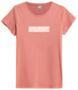 חולצת T פור אף לנשים 4F H4Z21 TSD023 - ורוד