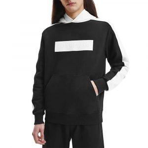 ג'קט ומעיל קלווין קליין לנשים Calvin Klein Blocking Logo Hoodie - שחור
