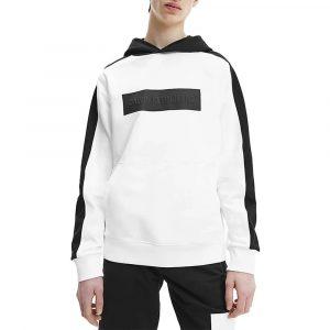 ג'קט ומעיל קלווין קליין לנשים Calvin Klein Blocking Logo Hoodie - לבן