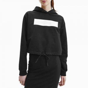 סווטשירט קלווין קליין לנשים Calvin Klein Hero Logo - שחור