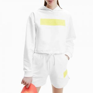 סווטשירט קלווין קליין לנשים Calvin Klein Hero Logo - לבן