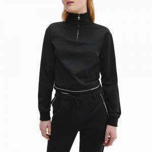 ג'קט ומעיל קלווין קליין לנשים Calvin Klein Milano Jersey - שחור