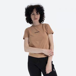 חולצת T קארהארט לנשים Carhartt WIP Hartt Script - ברונזה