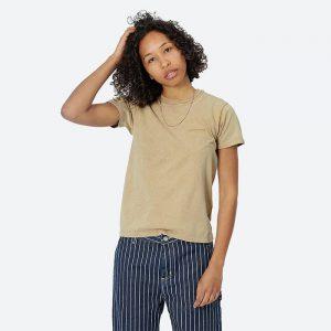חולצת T קארהארט לנשים Carhartt WIP Mosby Script - ברונזה