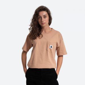 חולצת T קארהארט לנשים Carhartt WIP Pocket - בז'