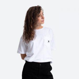 חולצת T קארהארט לנשים Carhartt WIP Pocket - לבן