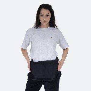 חולצת T קארהארט לנשים Carhartt WIP S/S Chase - אפור בהיר
