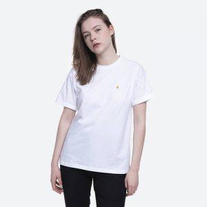 חולצת T קארהארט לנשים Carhartt WIP S/S Chase - לבן
