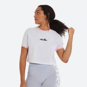חולצת T אלסה לנשים Ellesse Derla Crop - לבן