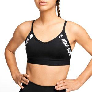 טופ וחולצת קרופ נייק לנשים Nike Indy - שחור