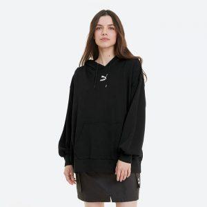 סווטשירט פומה לנשים PUMA Classics Oversized Hoodie - שחור