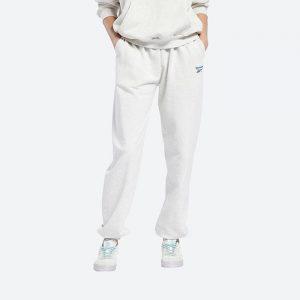 מכנסיים ארוכים ריבוק לנשים Reebok CL PF SM Logo - לבן