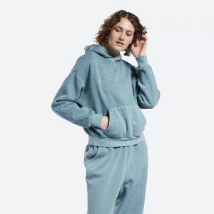 חולצת T ריבוק לנשים Reebok Classics Natural Dye Fleece - כחול