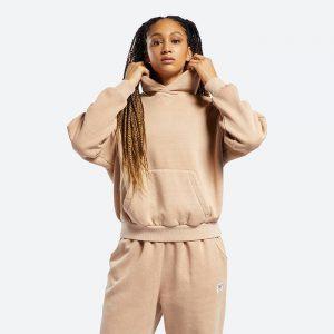 חולצת T ריבוק לנשים Reebok Classics Natural Dye Fleece - ברונזה