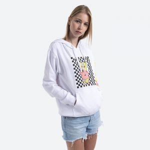 חולצת T ואנס לנשים Vans Sweatshirt  x Spongebob - לבן