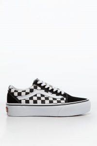 נעלי סניקרס ואנס לגברים Vans OLD SKOOL PLATFORM HRK - שחור/לבן