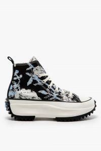 נעלי סניקרס קונברס לנשים Converse TRAMPKI CONVERSE - שחור הדפס