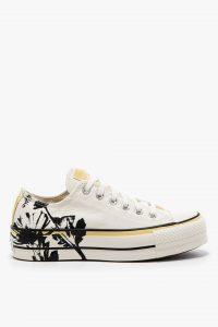 נעלי סניקרס קונברס לנשים Converse Chuck Taylor All Star Hybrid Floral Low Top - בז'