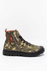 נעלי סניקרס פלדיום לגברים Palladium PAMPA HI OUTZP PUOTP - חום הסוואה