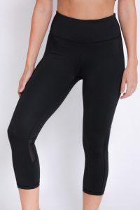 טייץ קלווין קליין לנשים Calvin Klein crop tight - שחור