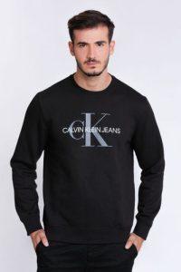 סווטשירט קלווין קליין לגברים Calvin Klein big logo - שחור