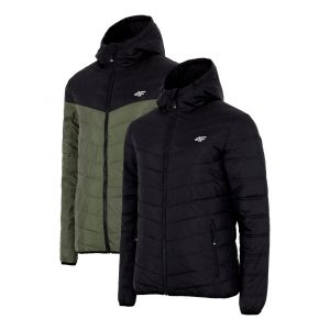 ג'קט ומעיל פור אף לגברים 4F H4Z21 KUMP010 - שחור/ירוק