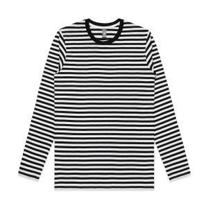 סווטשירט אס קולור לגברים As Colour match stripe - שחור/לבן