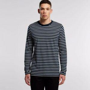 סווטשירט אס קולור לגברים As Colour match stripe - כחול/לבן