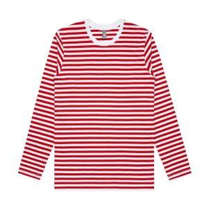סווטשירט אס קולור לגברים As Colour match stripe - לבן/אדום