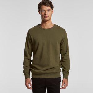 סווטשירט אס קולור לגברים As Colour premium crew - ירוק זית