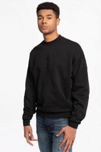 סווטשירט קלווין קליין לגברים Calvin Klein logo-print - שחור
